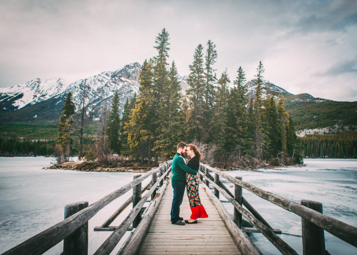 Winter in Jasper Engagement