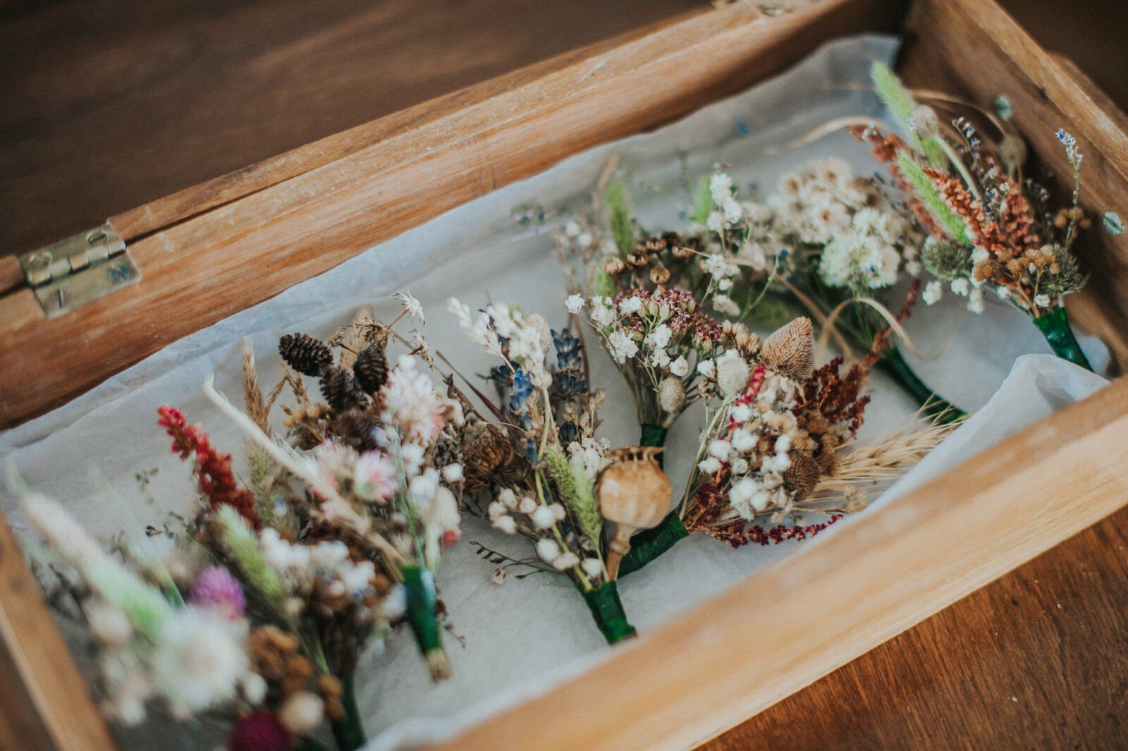 Beautiful woodland boutonnieres