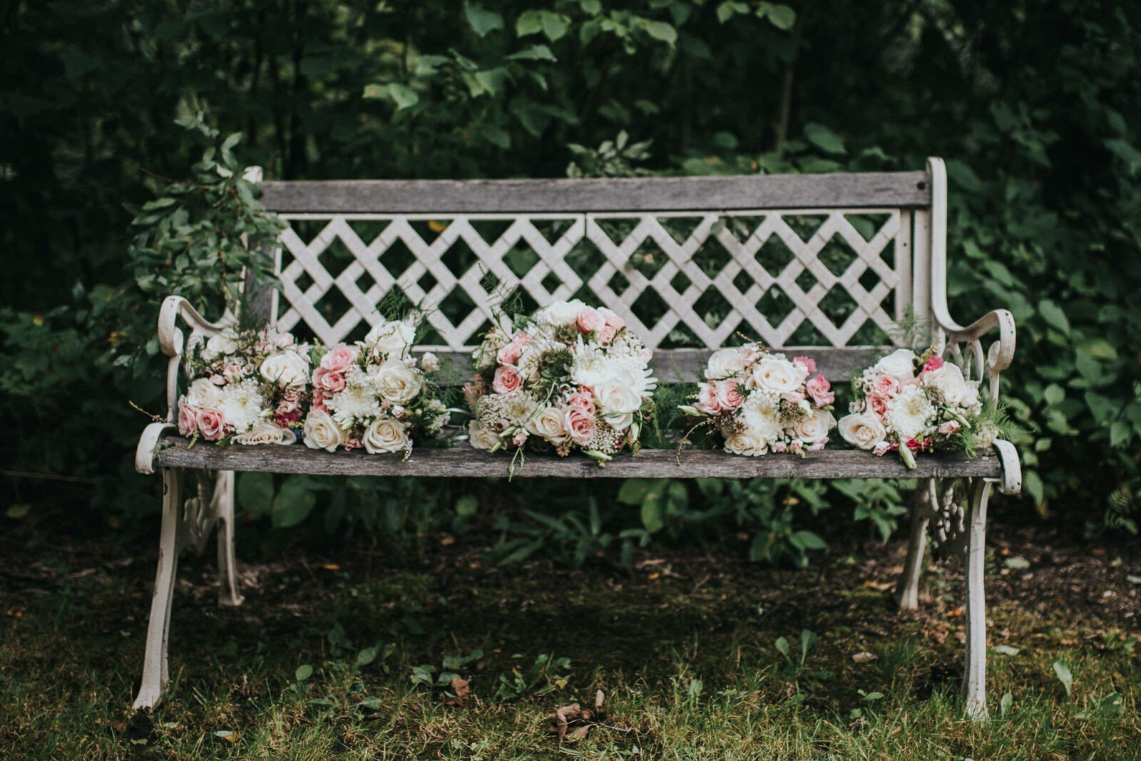 Beautiful woodland wedding bouquets