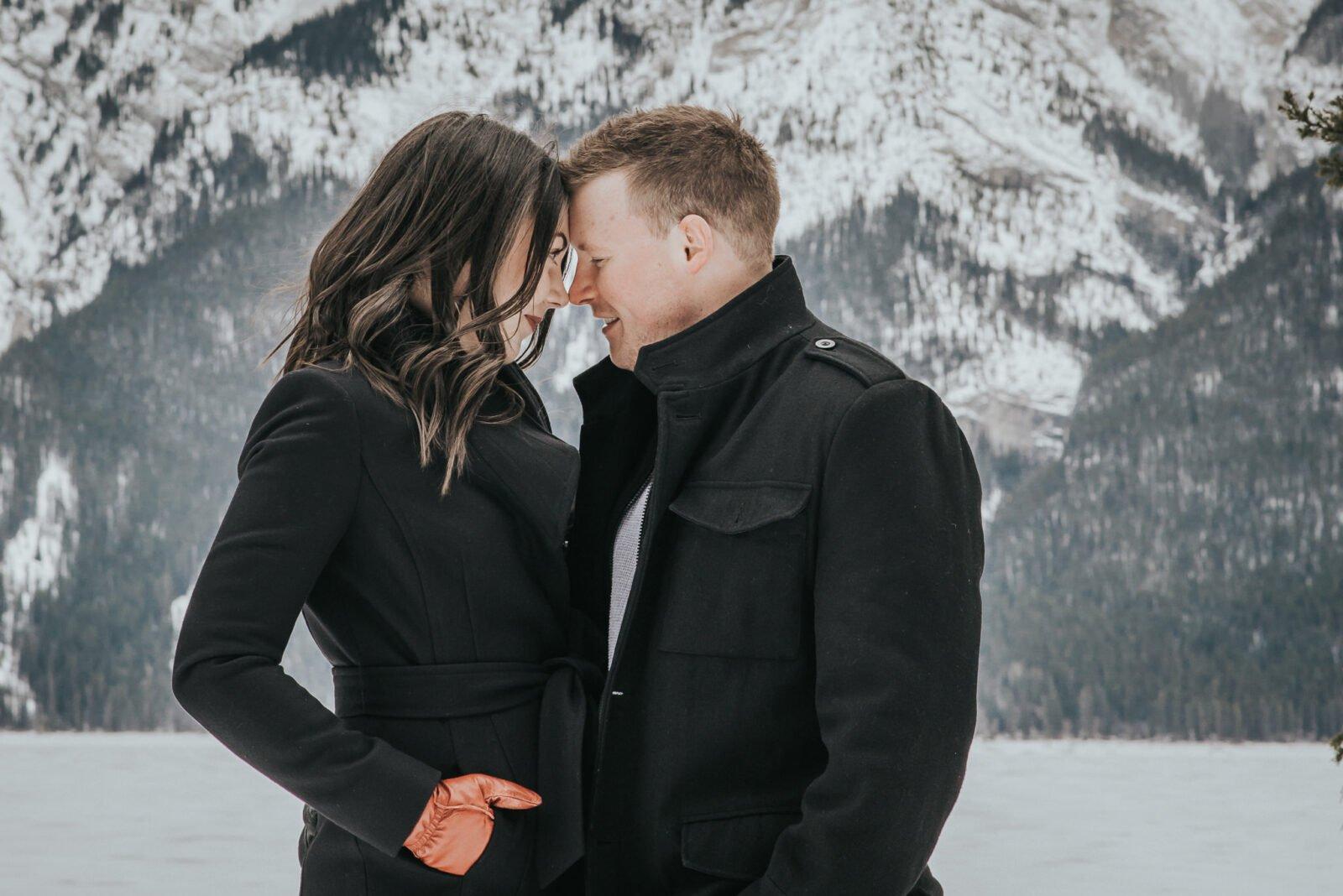 mountain winter engagement