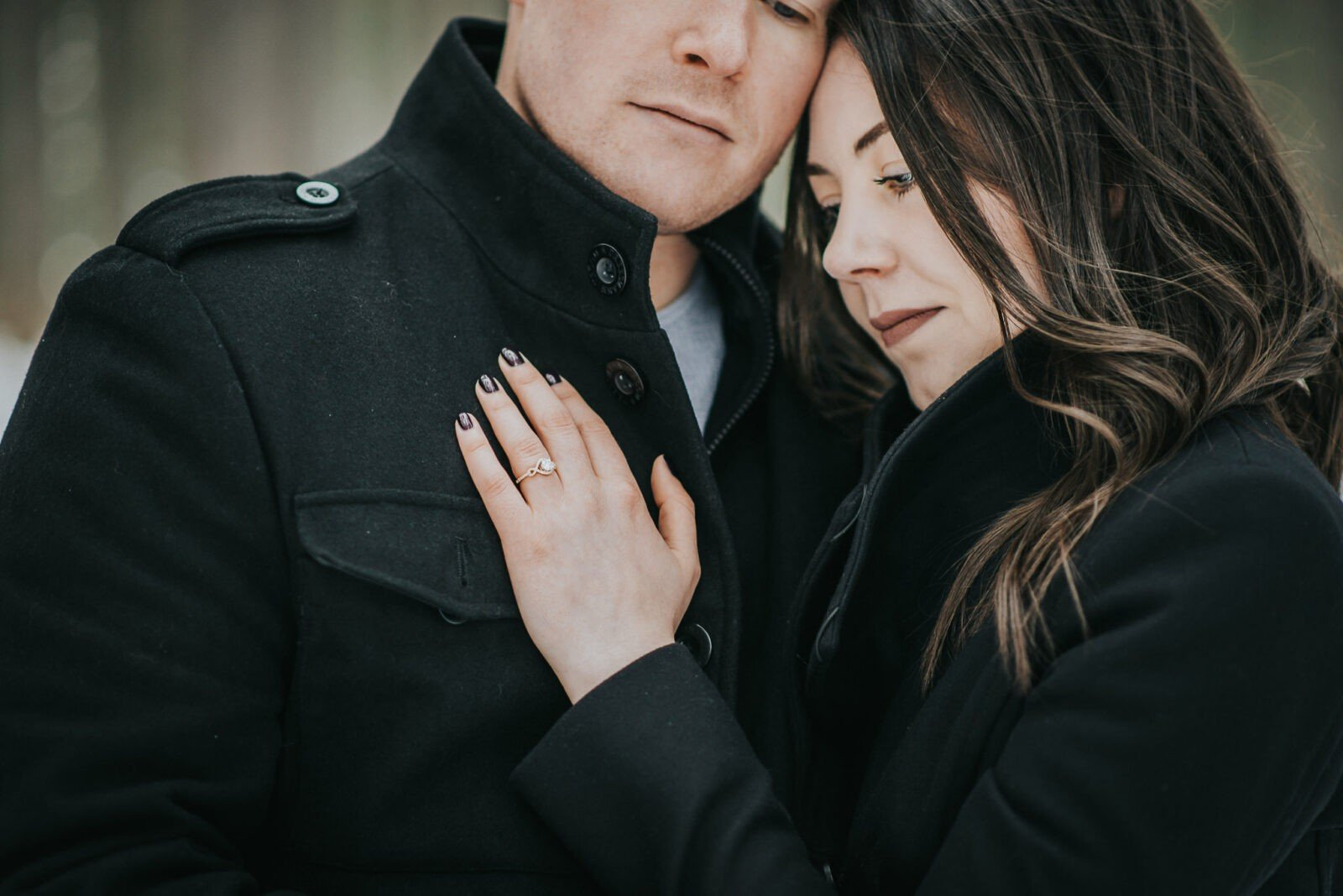 mountain winter engagement
