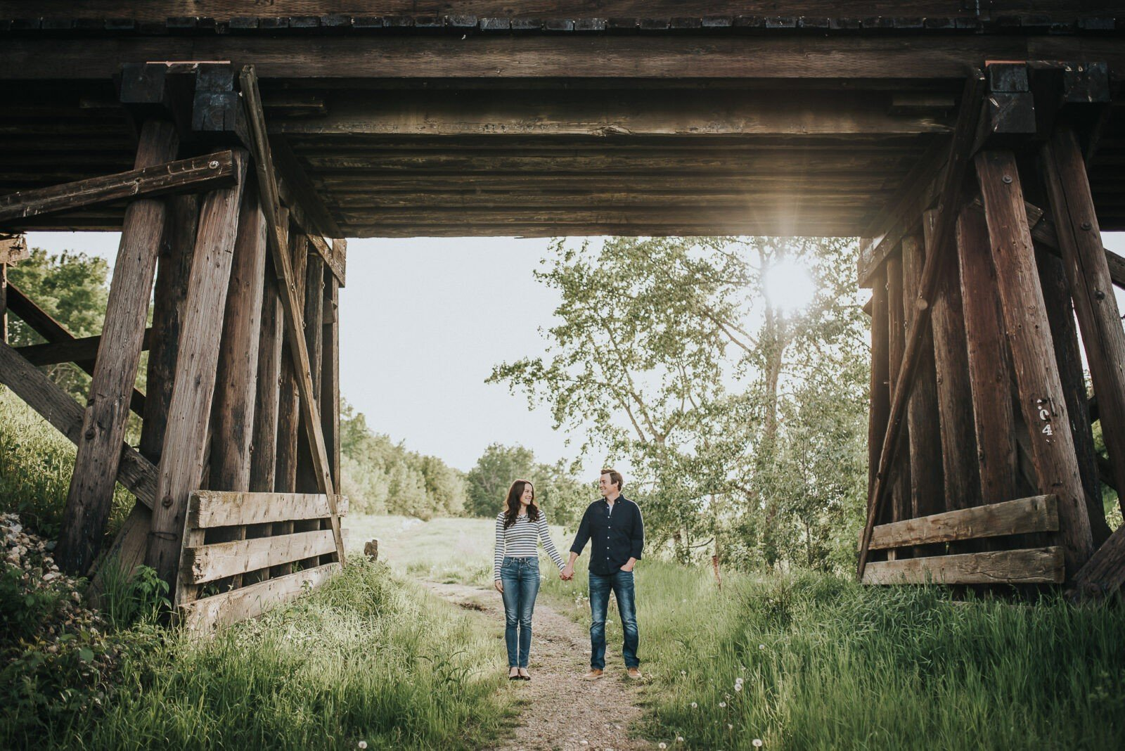 camrose sunset engagement