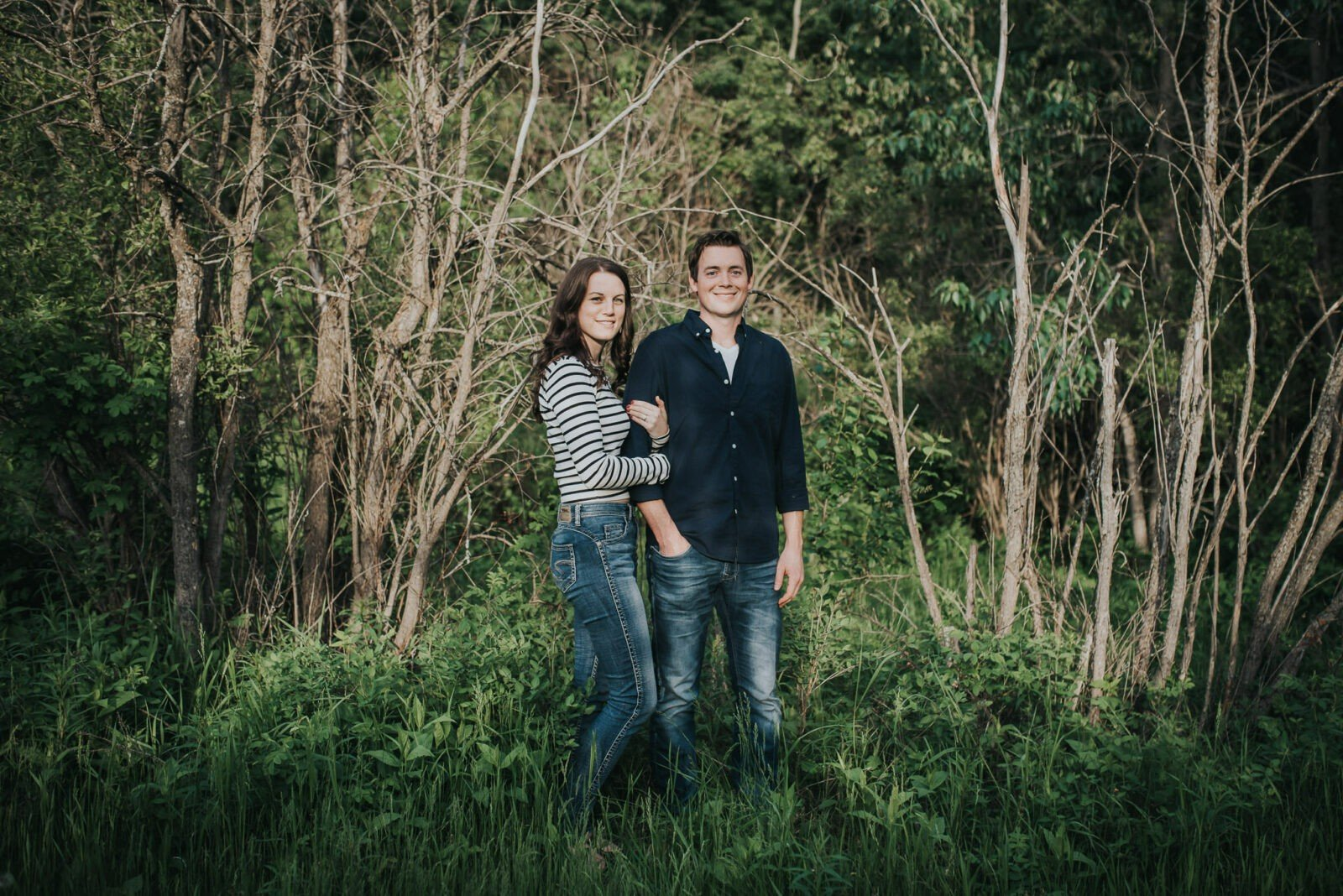 camrose sunset engagement session