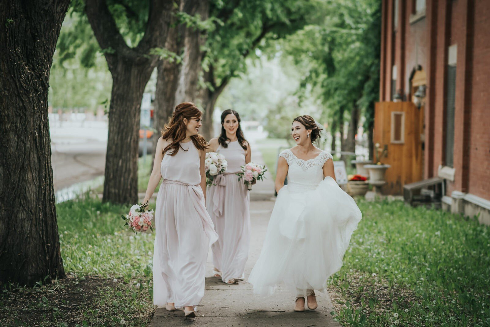 bridesmaid dresses with wedding dress