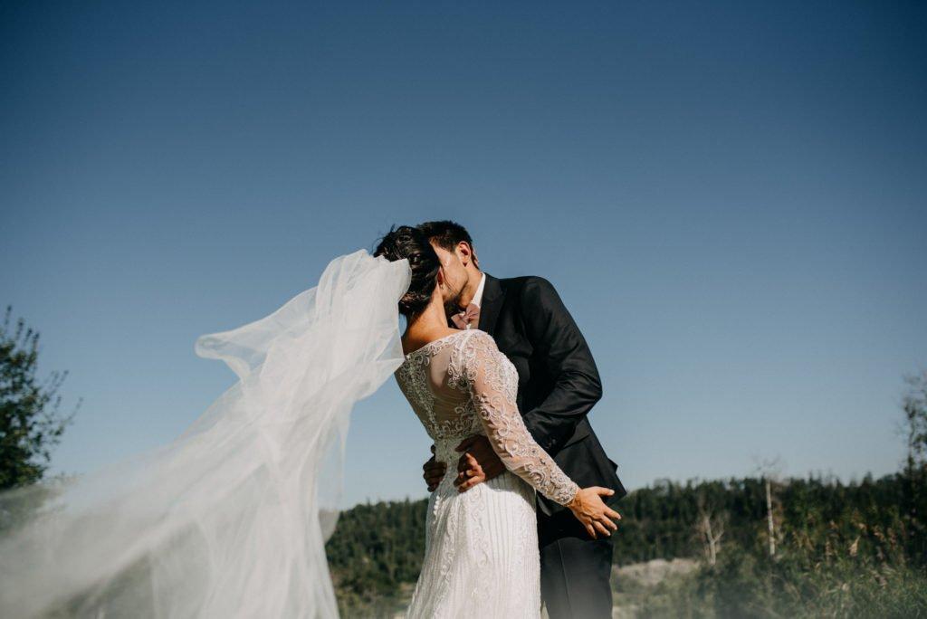 golf course wedding veil