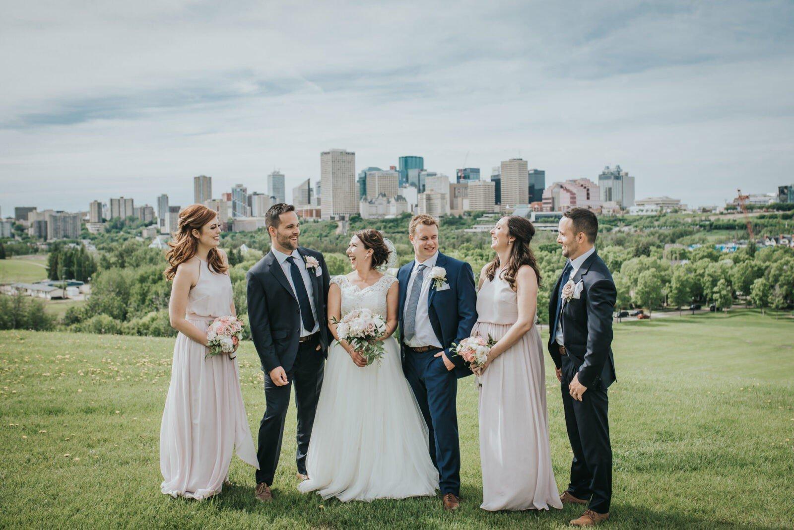 edmonton skyline wedding