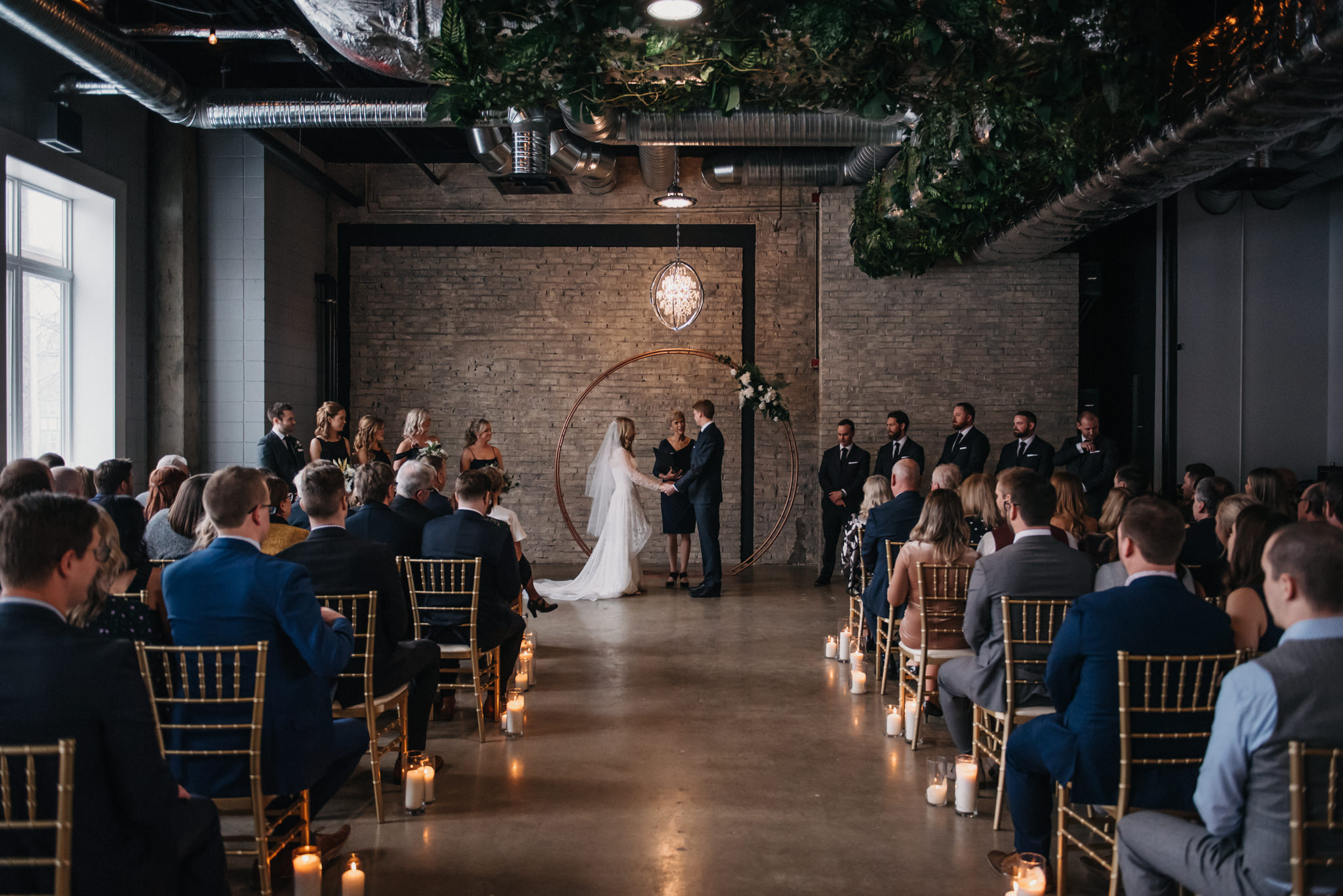 wedding ceremony at the Foundry Room