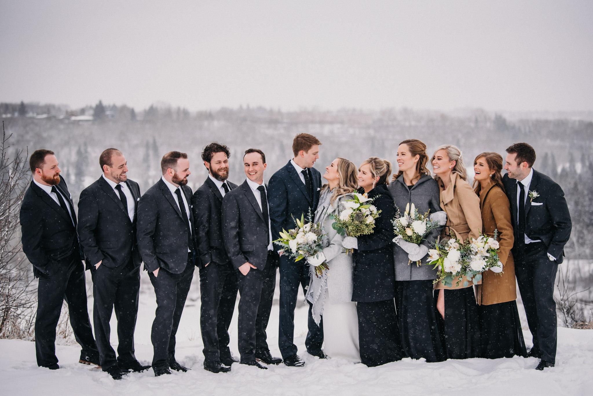 Edmonton winter wedding
