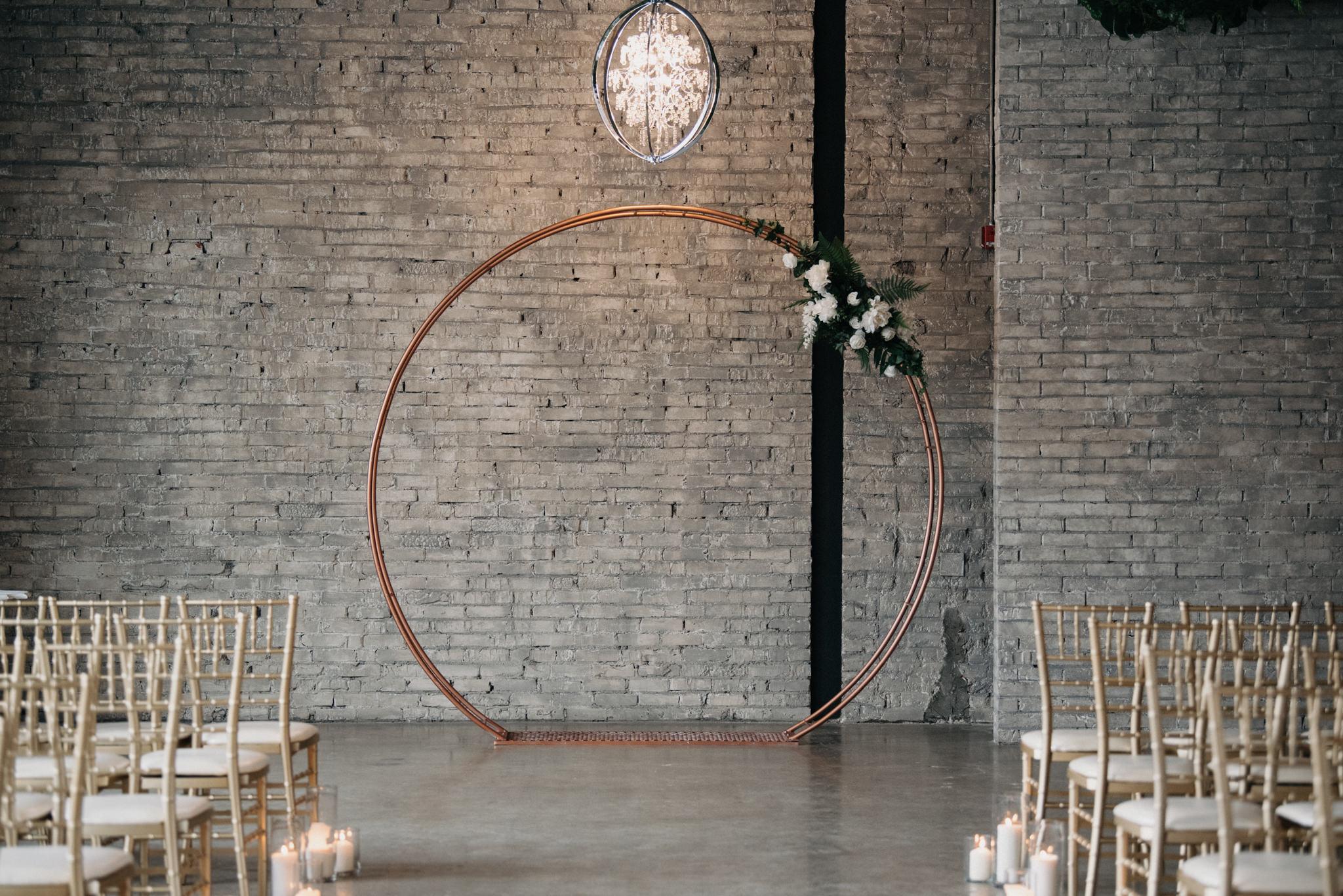 copper ceremony arch
